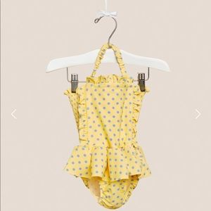 Lil lemons polka dot bathing suit